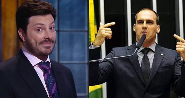 Danilo Gentili e Eduardo Bolsonaro