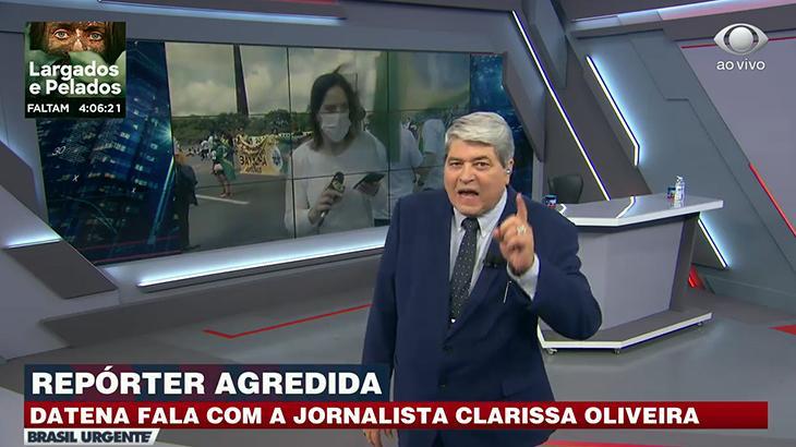 José Luiz Datena repudia agressão a jornalista da Band