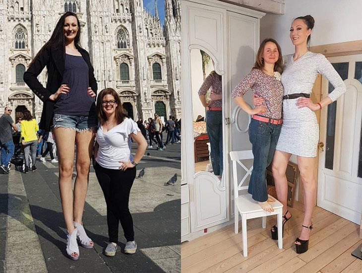 Com 1,3m de pernas, russa diz ser a modelo mais alta do mundo