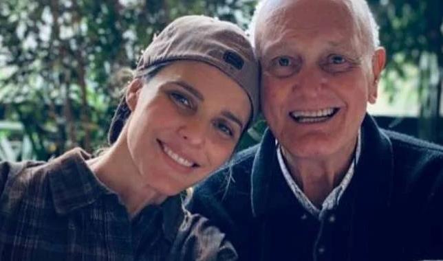 Fernanda Lima e seu pai