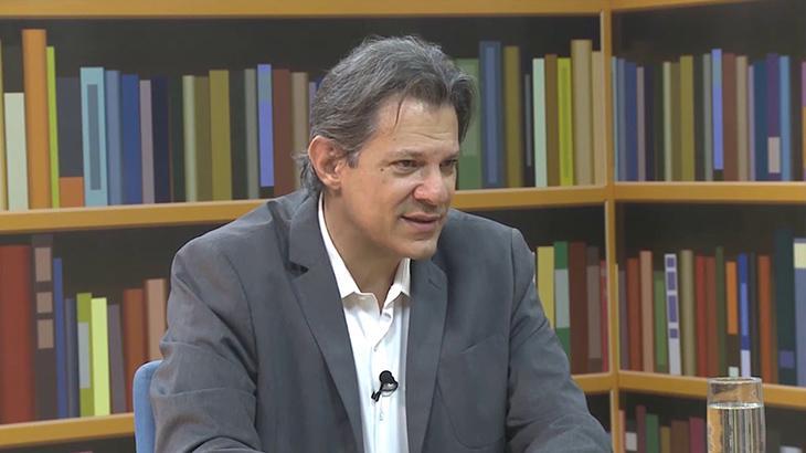 Fernando Haddd em seu talk show na All TV