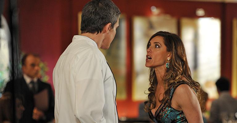 Cena de Fina Estampa com René e Tereza Cristina