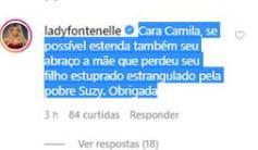 Antonia Fontenelle rebate Camila Pitanga após publicação sobre a trans Suzy