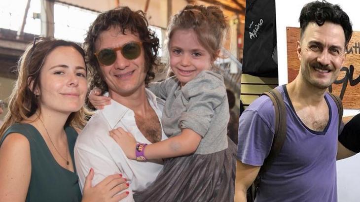 O ator Gabriel Braga Nunes e a família