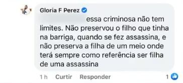 """Glória Perez se revolta ao saber que assassina da filha circula no meio artístico: """"Criminosa"""""""
