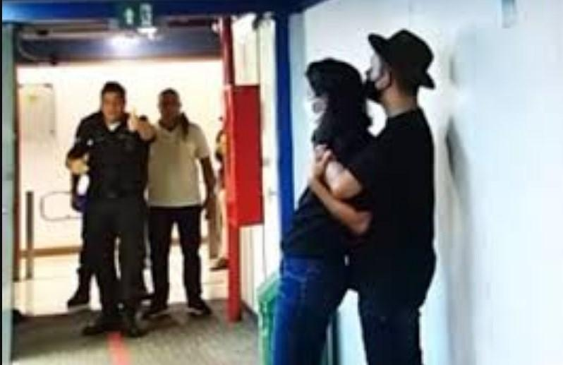Cena de sequestro na Globo