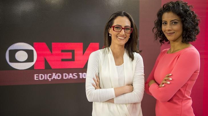 Apresentadoras do Edição das 10 da GloboNews posam para foto