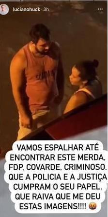 """Luciano Huck se revolta com vídeo de mulher agredida na Bahia: \""""Covarde\"""""""