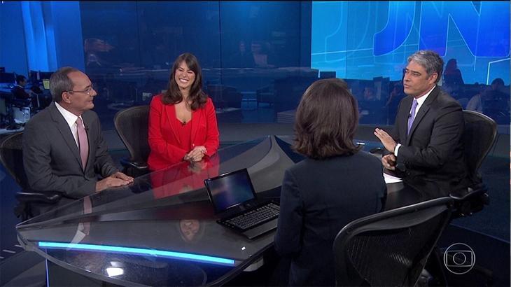 Jornalistas da Globo protestam contra novos âncoras no Jornal Nacional