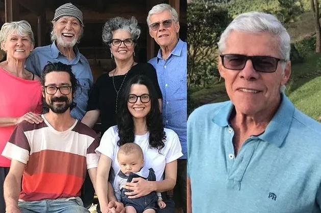 José Mayer surge em foto rara ao lado da família após se recuperar de doença