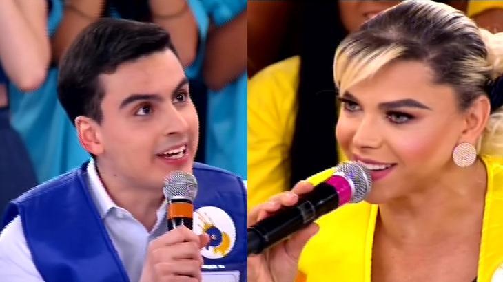 """Leo Áquilla chama Dudu Camargo de \""""sem noção\"""" após piada sobre pinto: \""""Fiquei constrangida\"""""""