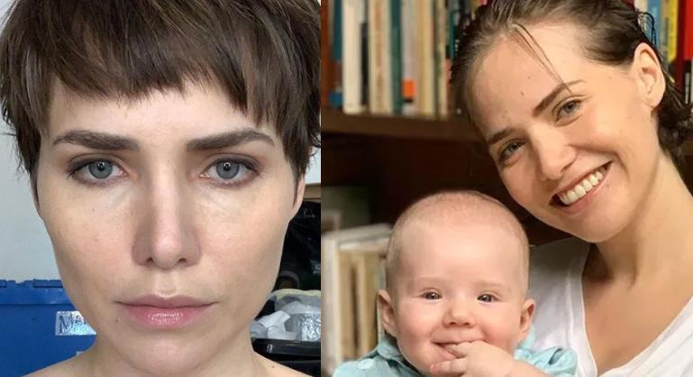 Letícia Colin e filho