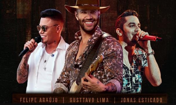 Live do Live do Gusttavo Lima, Felipe Araújo e Jonas Esticado
