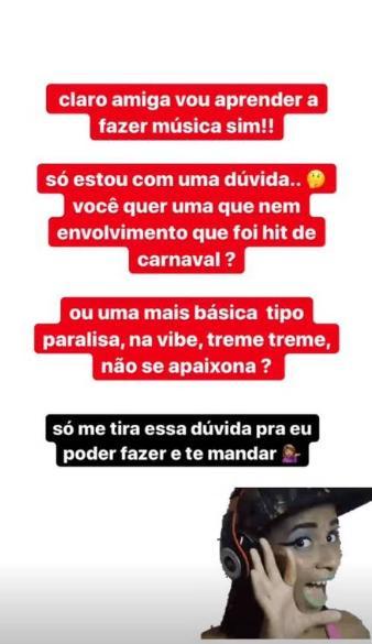 """MC Loma e Melody trocam farpas nas redes sociais: \""""Cara de saracura\"""""""