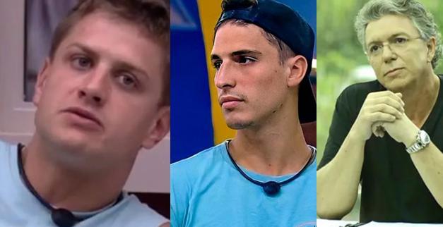 Lucas, Felipe Prior e Boninho