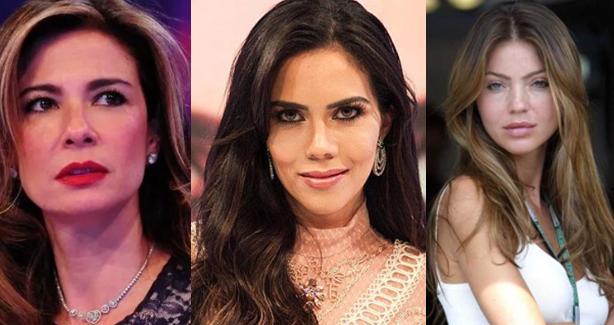 Luciana Gimenez, Daniela Albuquerque e Simone Abdelnour