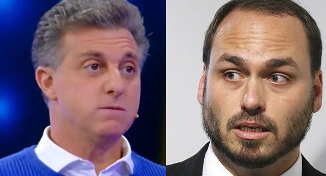 Carlos Bolsonaro e Luciano Huck