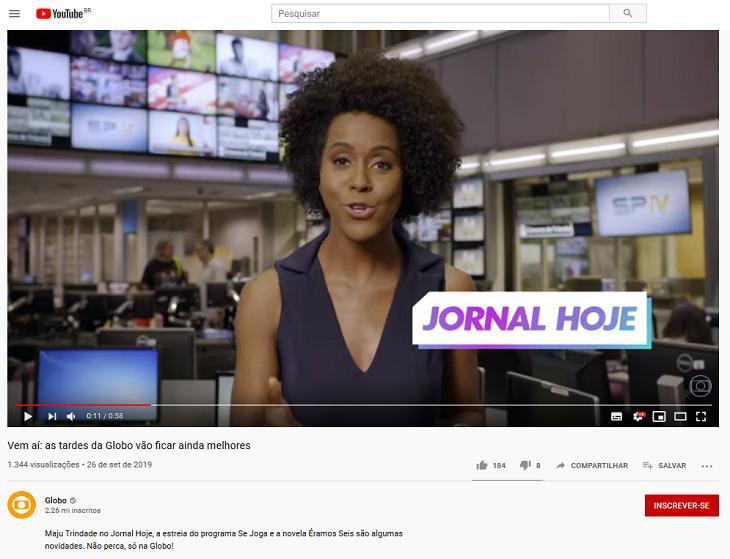 """Globo se confunde e diz que Maju Trindade vai assumir \""""Jornal Hoje\"""""""
