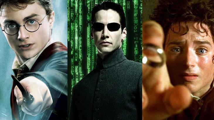 Montagem com Matrix, Harry Potter e O Senhor dos Anéis