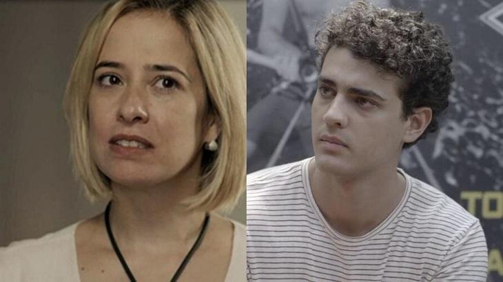 Paloma Duarte e Pedro Alves em montagem