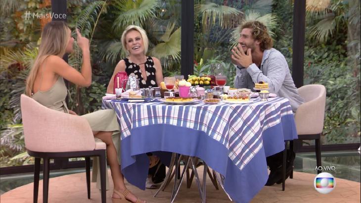 """Alan e Paula tomando café no """"Mais Você"""" com Ana Maria Braga"""