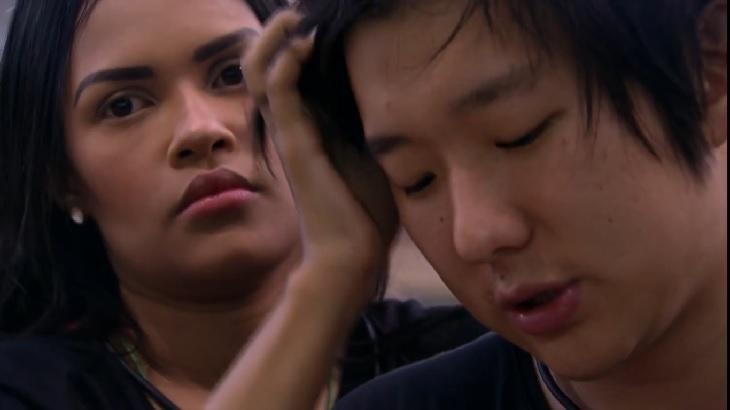 Pyong e Fleyslane conversando no BBB20