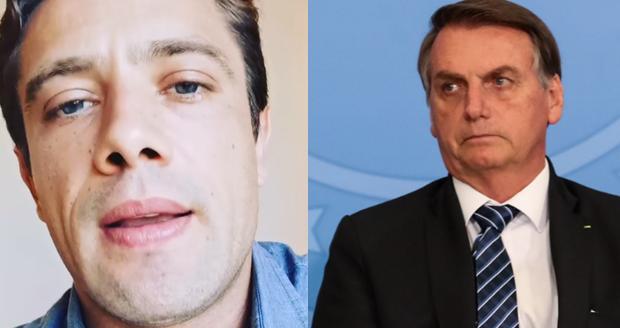 Rafael Cardoso e Jair Bolsonaro