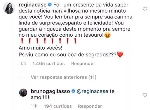 Regina Casé revela reação de Bruno Gagliasso após saber da gravidez de Giovanna Ewbank