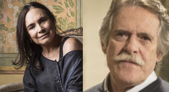 Regina Duarte e José de Abreu em foto montagem