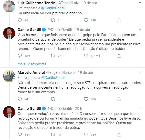 """Danilo Gentili detona atitude de Jair Bolsonaro: \""""Traição à pátria e aos eleitores\"""""""