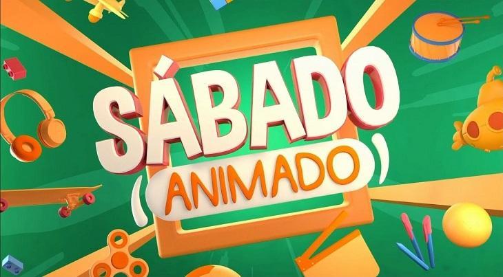 Logo do Sábado Animado