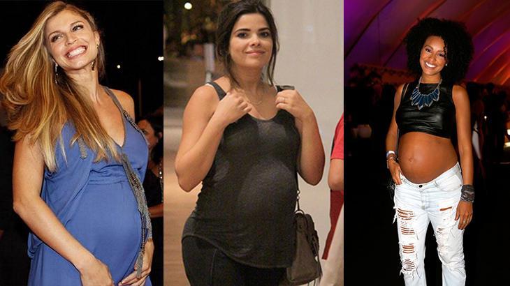 Grazi Massafera, Vanessa Giácomo e Sheron Menezzes grávidas