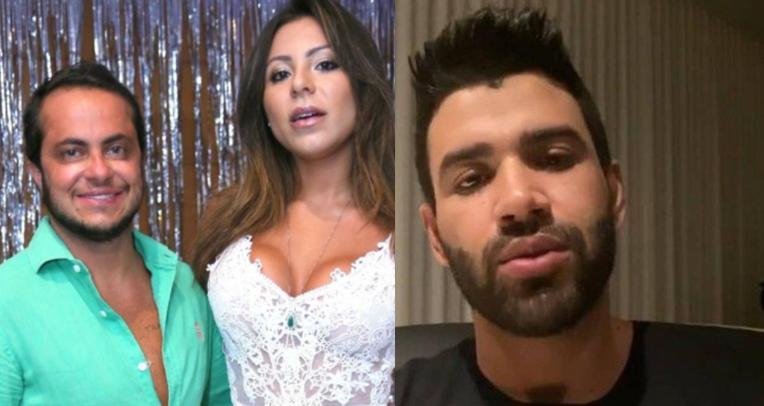 Thammy Miranda, Andressa Ferreira e Gusttavo Lima