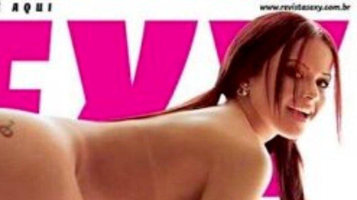 Parte da capa da revista sexy com Victória Villarim