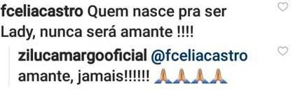 """Zilu volta a trocar alfinetadas com atual de Zezé Di Camargo: \""""Amante, jamais\"""""""