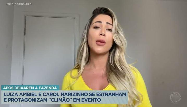Carol Narizinho. Reprodução Play Plus