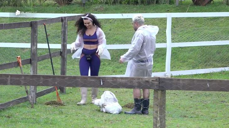 Evandro Santo e Fernanda Lacerda na fazenda
