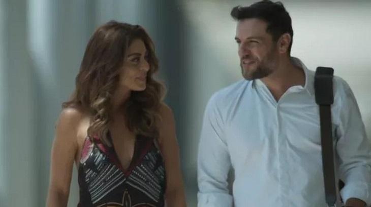 Juliana Paes e Rodrigo Lombardi atuando em A Força do Querer