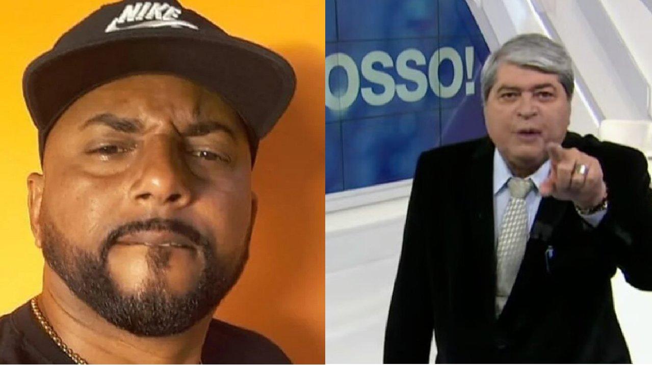 MC Raposão (à esquerda) e Datena (à direita) em foto montagem