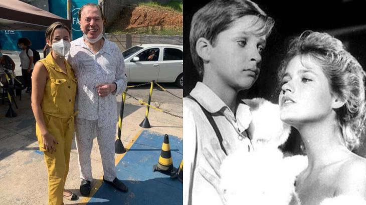 """Silvio Santos abraçado com sua filha e Xuxa no seu filme """"proibido"""" em foto montagem"""