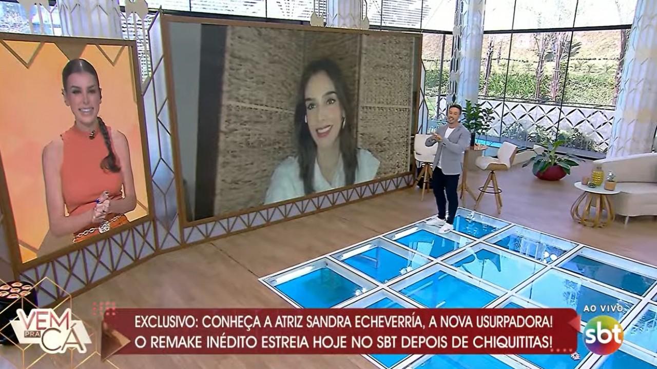 Sandra Echeverría no Vem pra Cá do SBT
