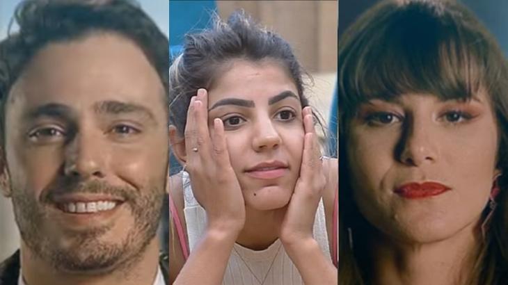 Dani Moreno e Thiago Rodrigues apareceram de surpresa no reality show