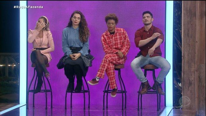 Carol Narizinho, Luiza Ambiel, Lidi Lisboa e JP Gadêlha em A Fazenda 2020