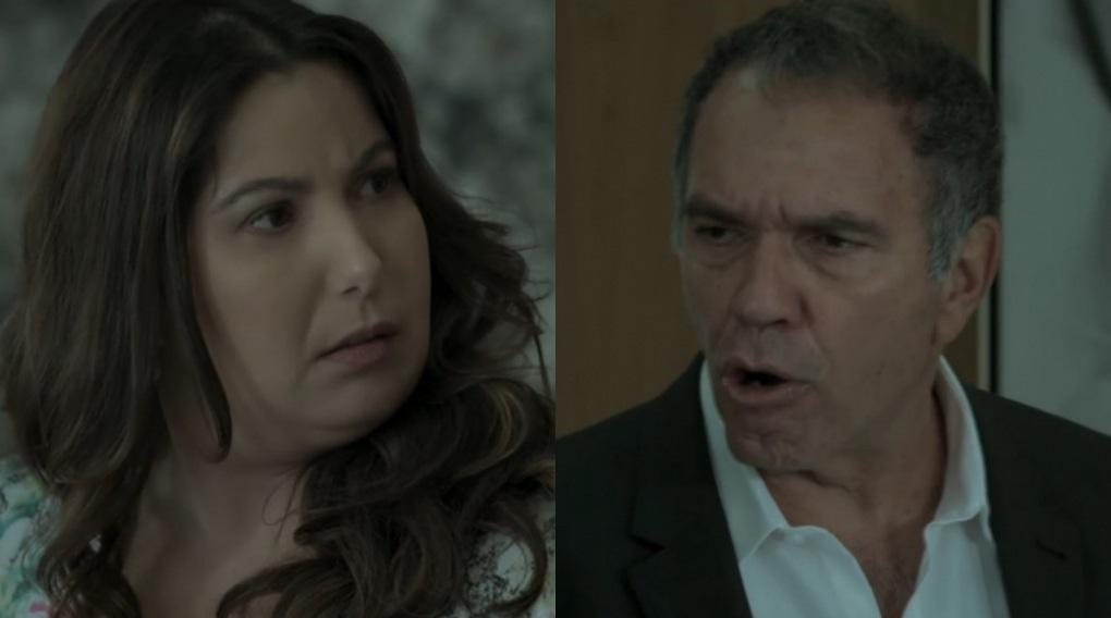 Mariana Xavier e Humberto Martins em cena da novela A Força do Querer, em reprise na Globo