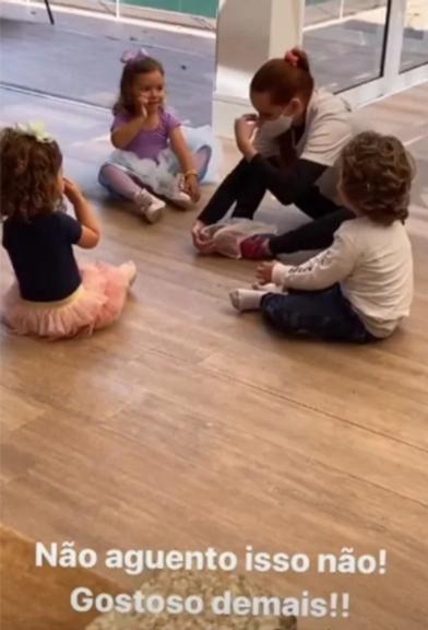 """Patrícia Abravanel mostra filha no balé com os primos: \""""Não aguento isso\"""""""