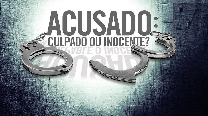 Logotipo da série Acusado: Culpado ou Inocente?