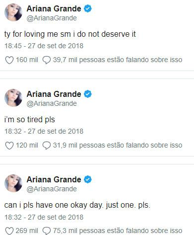"""Ariana Grande sofre com a morte do rapper MC Miller: \""""estou tão cansada\"""""""