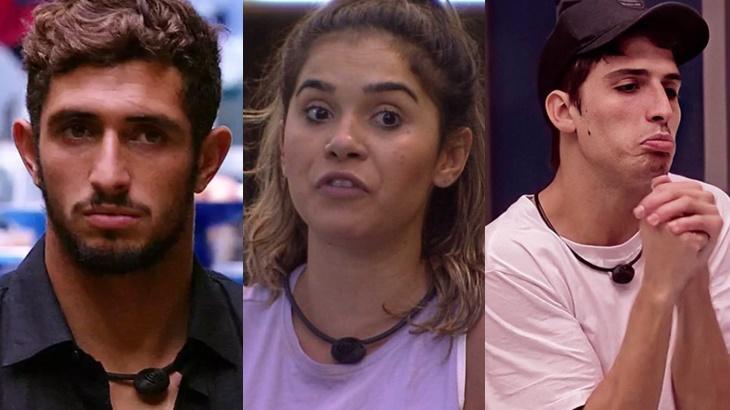 Lucas Chumbo, Gizelly e Felipe Prior tiveram affais não consumados dentro do BBB20