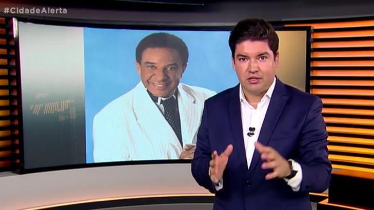 Programa Cidade Alerta repercutindo a morte de Agnaldo Timóteo