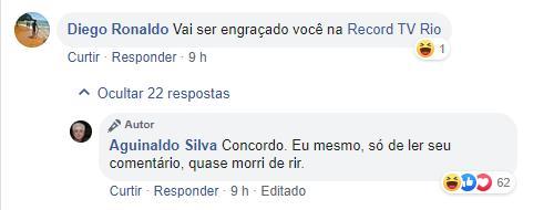 """Aguinaldo Silva debocha da possibilidade de ir para a Record: """"Quase morri de rir"""""""